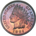 Proof Indian Cents, 1886 1C Type Two PR66 Red and Brown PCGS. CAC....