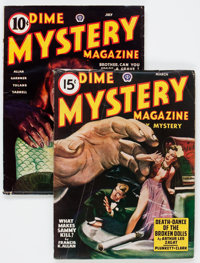 Dime Mystery Magazine Group (Popular, 1944-47) Condition: Average VG+.... (Total: 2 Items)