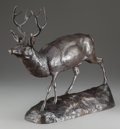 Sculpture, EDWARD KEMEYS (American, 1843-1907). Deer on Alert. Bronze with brown patina. 16-1/2 inches (41.9 cm) high. Inscribed wi...