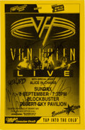 Music Memorabilia:Autographs and Signed Items, Van Halen Band Signed Tour Poster (1998)....