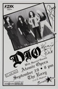 Music Memorabilia:Autographs and Signed Items, DIO Signed Tour Poster (1994)....