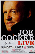 Music Memorabilia:Autographs and Signed Items, Joe Cocker Autographed Dodge Theater Concert Poster (2009)....