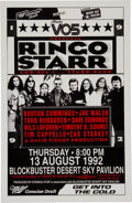 Music Memorabilia:Posters, Ringo Starr and His All Star Band Autographed Tour Poster, 1992....