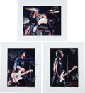 Music Memorabilia:Autographs and Signed Items, Green Day Three Signed Prints (2009), ...
