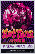 Music Memorabilia:Autographs and Signed Items, Hot Tuna Band Signed Tour Poster (2007)....