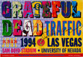 Music Memorabilia:Autographs and Signed Items, Grateful Dead/Traffic Sam Boyd Stadium Concert Poster (1994)....
