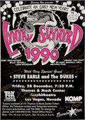 Music Memorabilia:Autographs and Signed Items, Lynyrd Skynyrd Band Signed Tour Poster (1990)....