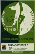 Music Memorabilia:Autographs and Signed Items, Jethro Tull Autographed Tour Poster (2007)....