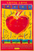 Music Memorabilia:Autographs and Signed Items, Crosby Stills & Nash and Others Signed Nicolette Larson TributePoster (1998)....
