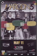 Music Memorabilia:Autographs and Signed Items, Maroon 5 Band Signed Tour Poster (2005)....