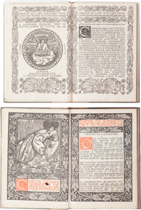 [Eragny Press]. Two Limited Editions by Pierre de Ronsard in Matching Bindings. Hammersmith: Eragny Press, 1902 and 1