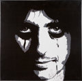 Music Memorabilia:Autographs and Signed Items, Alice Cooper Framed Painting Signed....