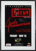 Music Memorabilia:Autographs and Signed Items, Nine Inch Nails Cricket Pavilion Band Signed Concert Poster(2009)....