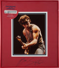 Music Memorabilia:Autographs and Signed Items, Bruce Springsteen Autographed Photo Display....