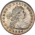 Early Half Dimes, 1796 H10C LIKERTY, V-1, LM-1, R.3, MS65 NGC....