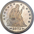 Seated Quarters, 1873-CC 25C Arrows MS64 PCGS Secure. CAC....