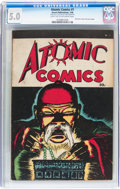 Golden Age (1938-1955):Crime, Atomic Comics #1 (Green Publishing Co., 1946) CGC VG/FN 5.0 Light tan to off-white pages....