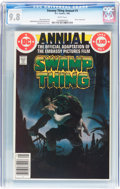Modern Age (1980-Present):Horror, Swamp Thing Annual #1 (DC, 1982) CGC NM/MT 9.8 White pages....
