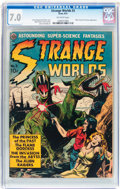 Golden Age (1938-1955):Science Fiction, Strange Worlds #3 (Avon, 1951) CGC FN/VF 7.0 Off-white pages....