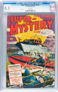 Golden Age (1938-1955):Science Fiction, Super-Mystery Comics V8#1 (Ace, 1948) CGC VF+ 8.5 White pages....