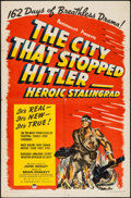 """Movie Posters:Documentary, The City That Stopped Hitler -- Heroic Stalingrad (Paramount, 1943). One Sheet (27"""" X 41""""). Documentary.. ..."""