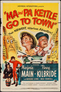"""Movie Posters:Comedy, Ma and Pa Kettle Go to Town (Universal International, 1950). One Sheet (27"""" X 41""""). Comedy.. ..."""