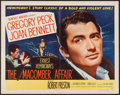 "Movie Posters:Drama, The Macomber Affair (United Artists, 1947). Half Sheet (22"" X 28"") & Lobby Card Set of 8 (11"" X 14"") Style A. Drama.. ... (Total: 9 Items)"
