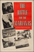 "Movie Posters:Documentary, The Battle for the Marianas (Warner Brothers, 1944). One Sheet (27"" X 41""). Documentary.. ..."