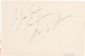 Movie/TV Memorabilia:Autographs and Signed Items, A Marilyn Monroe Oversized Autograph, 1954....