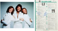 Music Memorabilia:Autographs and Signed Items, Bee Gees Signed Record World Chart with the SaturdayNight Fever Soundtrack at Number One (1978). ...