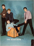 Music Memorabilia:Autographs and Signed Items, The Searchers Signed Large Vintage Color UK Magazine Pin-up (Circa1963)....