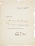 Movie/TV Memorabilia:Autographs and Signed Items, A Hattie McDaniel Signed Letter, 1951....