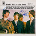 Music Memorabilia:Autographs and Signed Items, Kinks Greatest Hits Canadian Album Cover Signed by Ray andDave Davies (1975). ...