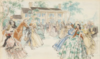 """A Watercolor Painting by Armando Seguso from """"Gone With The Wind."""""""