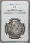 Chile, Chile: Charles IV 4 Reales 1802 SO-JJ F12 NGC,...