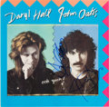 Music Memorabilia:Autographs and Signed Items, Hall & Oates Signed Ooh Yeah! Album Cover (1988). ...