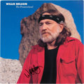 Music Memorabilia:Autographs and Signed Items, Willie Nelson Signed Promotional Flat for the Album ThePromiseland (1986)....