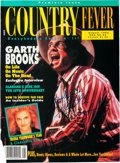Music Memorabilia:Autographs and Signed Items, Garth Brooks Signed Color Country Fever Magazine Cover....