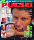 Music Memorabilia:Autographs and Signed Items, Tom Waits Signed Color Pulse Magazine Cover....