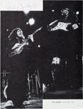 Music Memorabilia:Autographs and Signed Items, Rory Gallagher Signed Performance Photo. ...