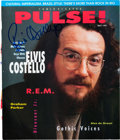 Music Memorabilia:Autographs and Signed Items, Elvis Costello Signed Color Pulse Magazine Cover. ...