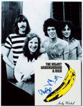 Music Memorabilia:Autographs and Signed Items, The Velvet Underground & Nico CD Booklet Signed by LouReed and John Cale. ...