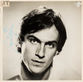 Music Memorabilia:Autographs and Signed Items, James Taylor Signed JT Album Cover (1977)....