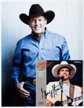 Music Memorabilia:Autographs and Signed Items, George Strait Signed If You Ain't Lovin' You Ain't Livin' CDBooklet. ...