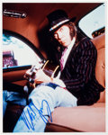 Music Memorabilia:Autographs and Signed Items, Neil Young Signed Color Photo. ...