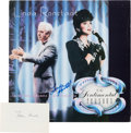 Music Memorabilia:Autographs and Signed Items, Linda Ronstadt Signed Promotional Flat for the Album ForSentimental Reasons (1986) with Nelson Riddle Signature....