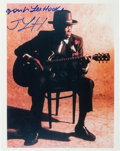 Music Memorabilia:Autographs and Signed Items, John Lee Hooker Signed Color Photo. ...