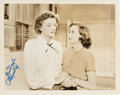 Movie/TV Memorabilia:Autographs and Signed Items, A Myrna Loy Signed Photo from The Best Years of Our Lives....
