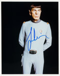 Movie/TV Memorabilia:Autographs and Signed Items, A Leonard Nimoy Signed Color Photo from Star Trek: The Motion Picture....