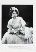 Movie/TV Memorabilia:Autographs and Signed Items, A Lillian Gish Signed Photo from The Wind with HandwrittenNote. ...